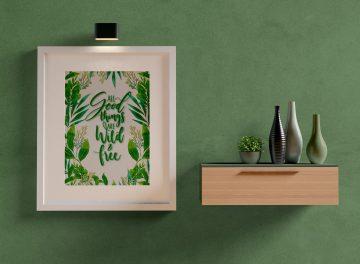 Odcienie zieleni na ścianie - inspiracje